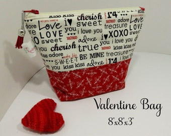 FREE SHIPPING - Valentine Project Bag