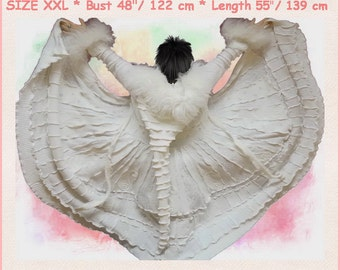 ELF coat, bridal gown, gypsy wedding dress, hippie wedding dress, white dress, patchwork coat, bohemian wedding dress, fairy wedding dress,