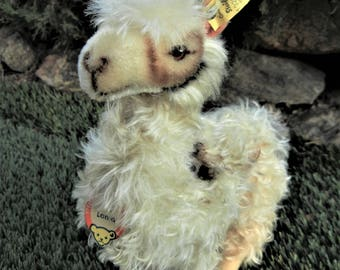 Large Steiff Vintage Antique Llama ALL IDs 28cm  Ex.Cond  1959-67 Handmade German Toy Collectible Doll