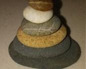 Natural Beach Stone Stack Zen Decor Yoga Props Sea Ocean Zen Stones Rock Art Natural Meditation Gifts Balance Peaceful Zen Garden Sculpture