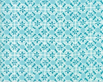 INSTOCK Early Bird Fountain Teal by Kate Spain from Moda- 1 yard