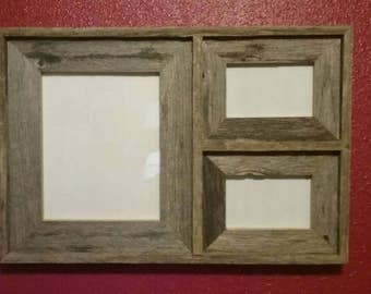 Barn Wood Collage 1-8x10 with 2-4x6's