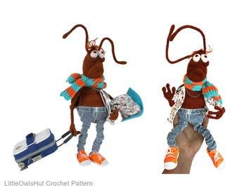 138 Cockroach - Crochet Pattern PDF file Amigurumi by Astashova Etsy