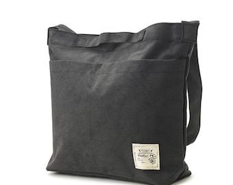 Cotton Messenger & Tote bag (4 colors)