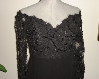 Chris Cole Black sequined formal dress
