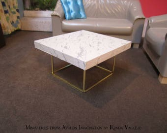 marble coffee table | etsy