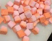 Flavored Sugar Cubes Colored Sugar Cubes Pink and Orange Rainbow Sugar Cubes