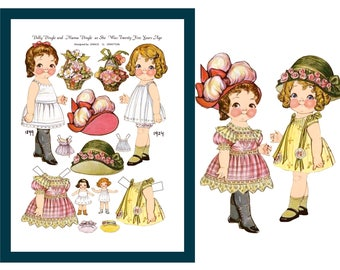 Dolly Dingle Paper Doll Digital Collage Sheet - Instant Download Printable Dolly Dingle Clipart, Graphics. Personal & Commercial Use