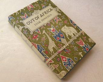 Out of Africa Isak Dinesen Karen Blixen Original Art Deco Dust Jacket Near Fine Condition 1952 Modern Library Edition African Memoir