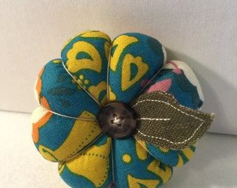 Mini Flower Pin Cushion in Blue