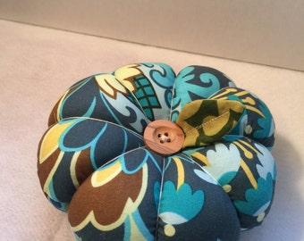 Flower Pin Cushion in Blue