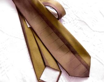 Vintage Christian Dior Brown Silk Necktie