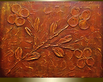 Acrylic painting Flower Blooming.