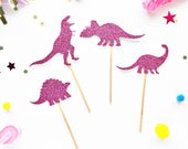 Dinosaur Cupcake Toppers/ T Rex Party/ T Rex Birthday/ Dinosaur Party/ Dinosaur Birthday/ T Rex Cake Topper/ Dinosaur Cake Topper