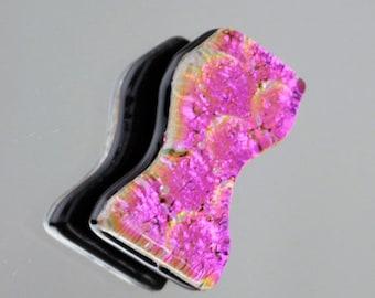 Dichroic Cabochon, Mosaic Accent Tile, Dichroic Mosaic Tile, Jewelry Cabochon, Handmade Glass Tile