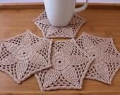 Crochet Coaster PATTERN, Mosaic Flower Coasters DIY Crochet Crafts, Crochet Home Decor, Crochet DIY Gift, Lyubava Crochet Pdf Pattern No.192