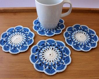 Crochet Coaster PATTERN, Greek Islands Coasters DIY Crafts, Crochet Home Decor Summer Gifts, Digital Pattern Pdf No.194 by Lyubava Crochet