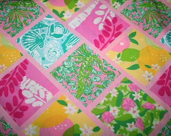 Tile Patch cotton poplin 18 X 18 inches  ~Lilly Pulitzer~