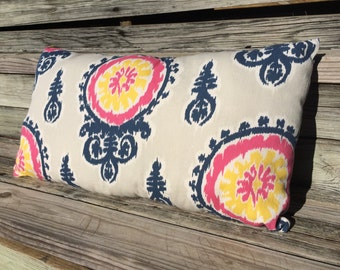 Lumbar Pillow, Farmhouse Pillow, Cottage Decor, Accent Pillow, Cream Pillow, Pink Pillow, Cottage Pillow, Farmhouse Decor, Throw Pillow