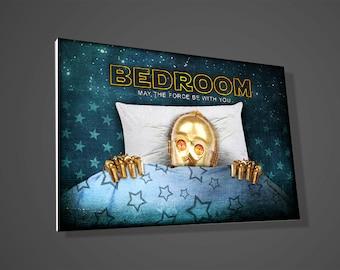 C3PO Bedroom sign,Darth Vader Toilet sign,Stormtrooper bathroom sign,R2D2 laundry sign,star wars sign,art,door sign,door sign,geek,gift idea