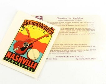 Vintage Grand Ole Opry Travel Decal Nashville Tennessee