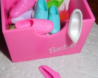 19 Pair Barbie Shoes High Heels Boots  Sneakers Complete Barbie Shoe Wardobe