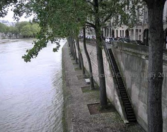 Original Photograph (Matted): Stairs to the Seine