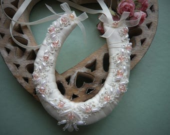 A Hint of Pink Small Wedding Horseshoe