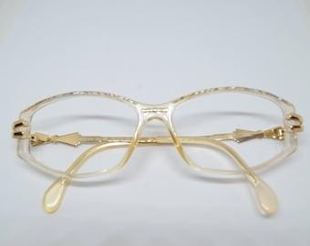 Cazal vintage eyewear white/gold/bows model 376