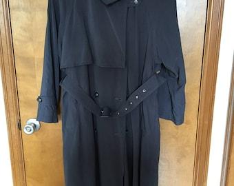 Navy Blue Rain Coat