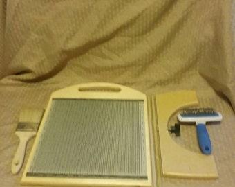 Blending Board, Fiber Blending Board with tool kit