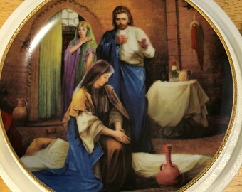 Danbury Mint Collectible Plate - The Healing of the Sick