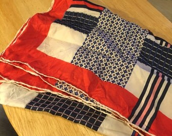 Large Red, White & Blue Scarf