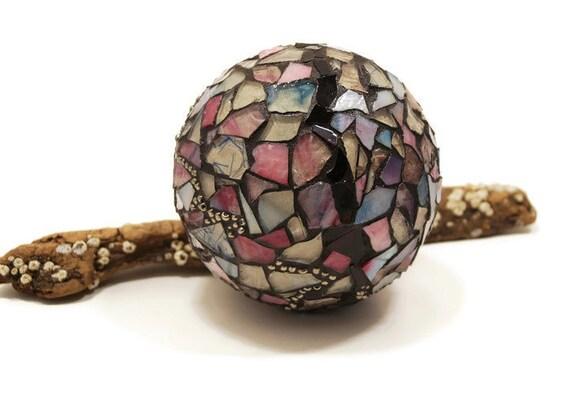 Gazing ball crystal ball home decor romantic decor mosaic for Decor 9 iball