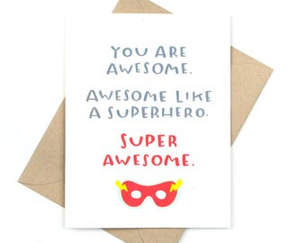 super awesome card - congratulations card - just because card