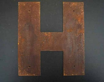"""12"""" Rusted Metal Letters with or with out mounting holes"""