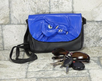 Dragon Cross Body Purse With Face Messenger Bag Game Of Thrones Blue Black Leather