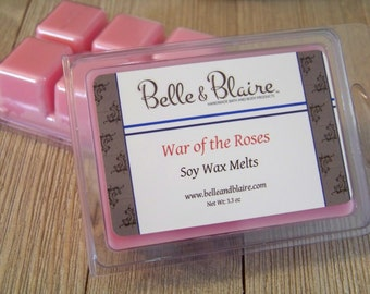 War of the Roses- Soy Tarts- Scented Wax Melts