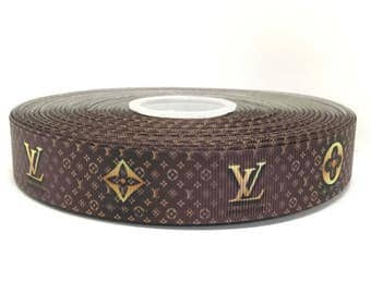 "1"" Louis Vuitton LV Grosgrain Ribbon"