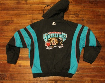 Vancouver Grizzlies starter jacket vtg NBA Basketball vintage pullover winter coat Large