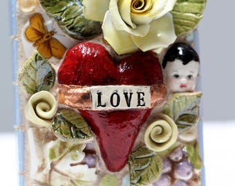 LOVE mosaic art, baby doll