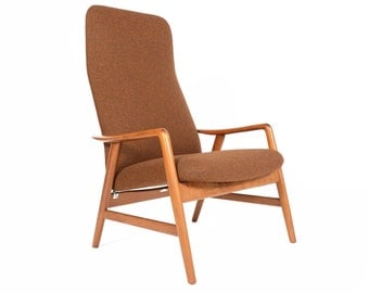 Danish Mid Century Modern Alf Svensson Contour Reclining Lounge Chair