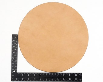 """12"""" Rounder Pre-Cut Hermann Oak Leather Tooling Pieces # 100-"""