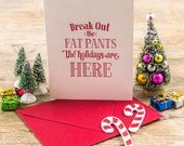 Letterpress Holiday Greeting Cards - Fat Pants