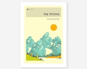 GRAND TETON National Park (Giclée Fine Art Print, Photo Print or Poster Print) 'The Tetons' by Jazzberry Blue
