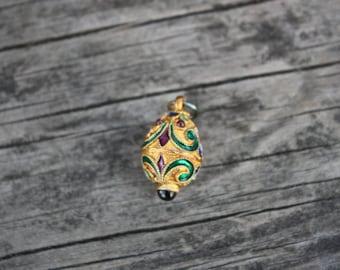 Little Vintage Decorative Enamel Egg Pendant