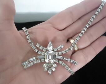 Vintage Symphony Original Rhinestone Necklace