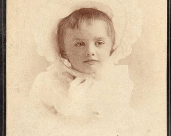 Antique Young Girl Posing for Portrait by Baumgerdner Photos Springfield Ohio Wonderful Looking Child Possibly A Birthday Portrait