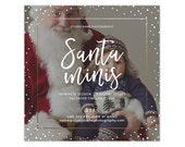 Santa Mini Session Template, Holiday Mini Session Template, Christmas Photography Marketing Template, Photoshop Templates AD232