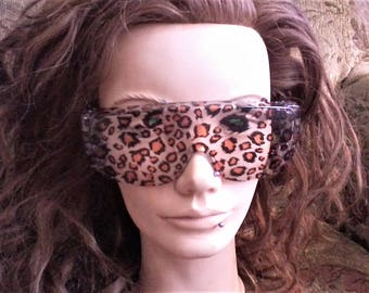 Leopard and White Bengal Tiger Glasses